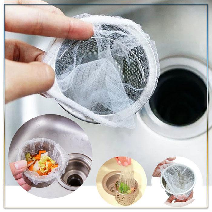 Combo 100 túi lọc rác bồn rửa chén bát tiện lợi cao cấp