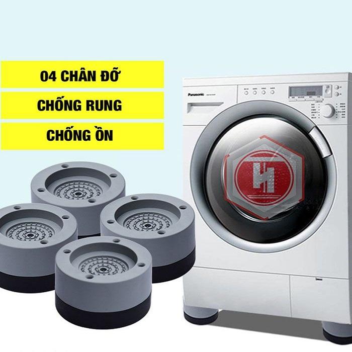 Bộ 4 chân đế máy giặt chống rung, chống ồn