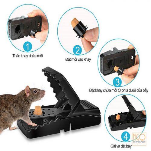 Dụng cụ bẫy chuột nhựa thông minh