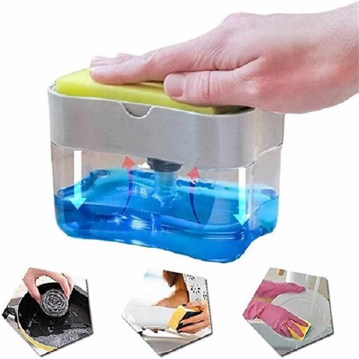 Hộp đựng nước rửa chén tự động bơm