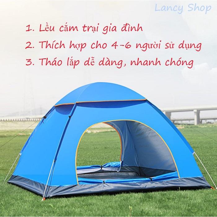 Lều trại du lịch tự bung chống nước 2M x 1M4